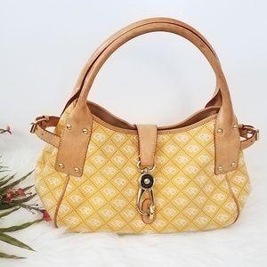 DOONEY BOURKE Yellow Logo Large Handbag